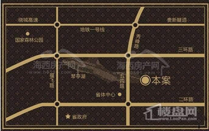 琴亭湖时代交通图