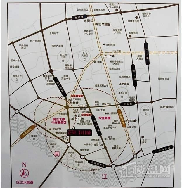 正荣润城交通图