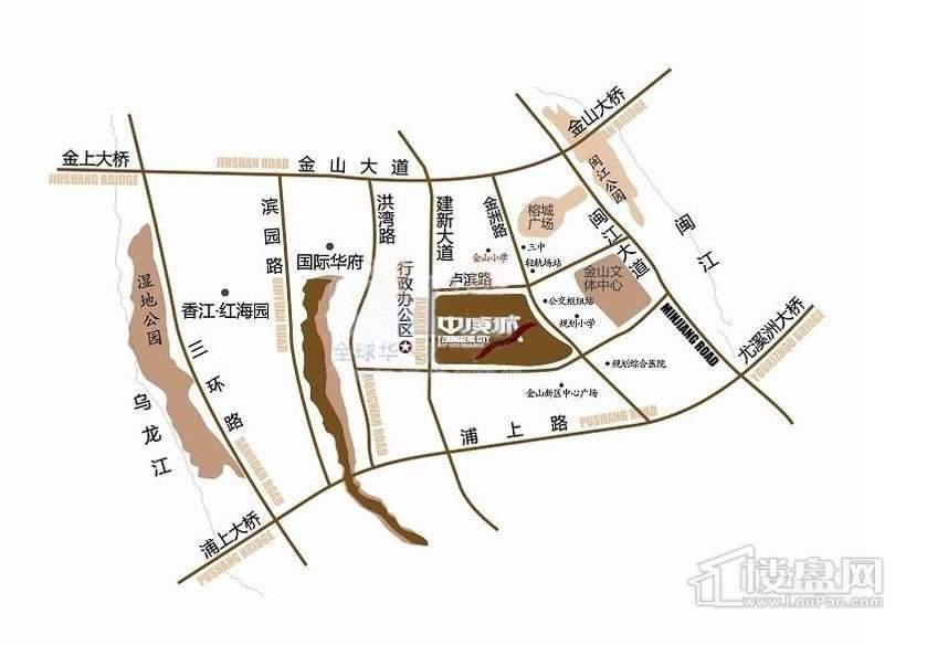 中庚城交通图