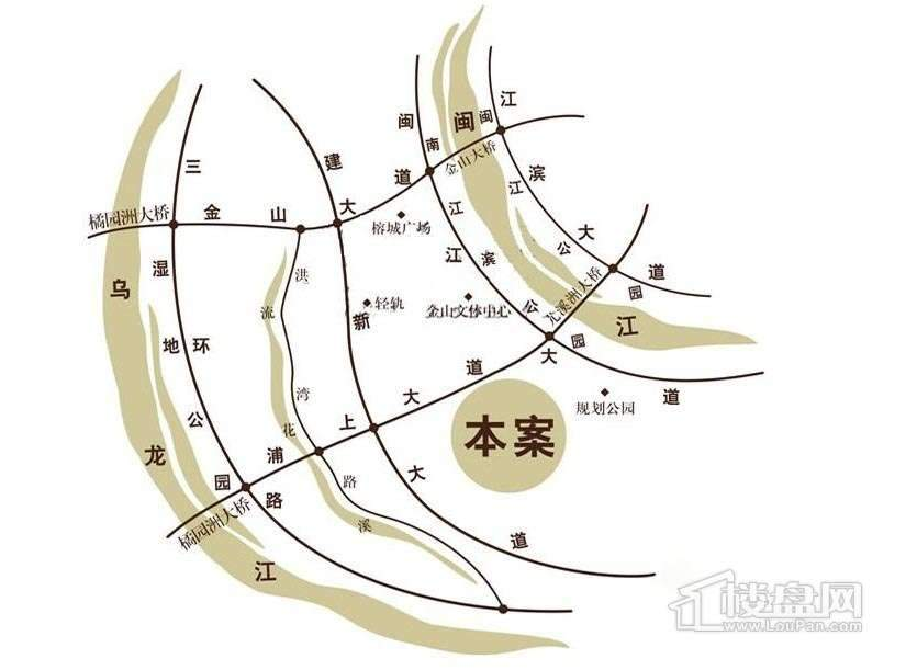 福晟钱隆金山交通图