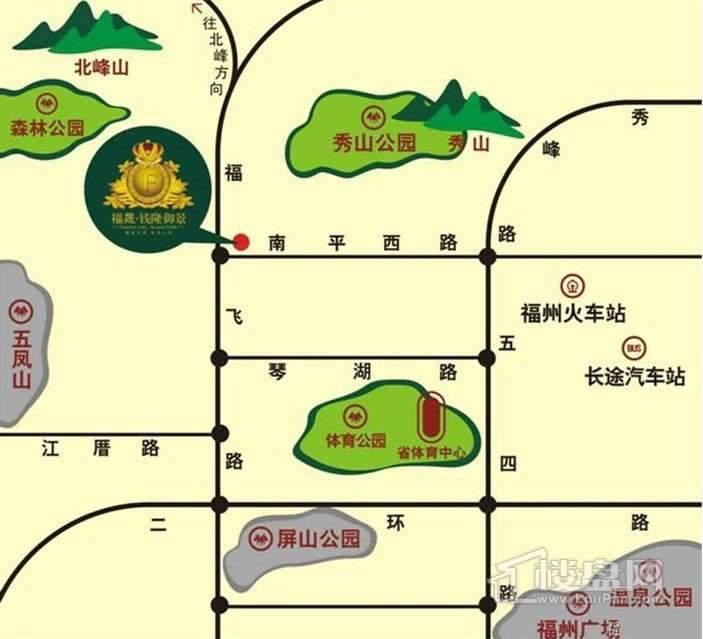 福晟钱隆御景交通图