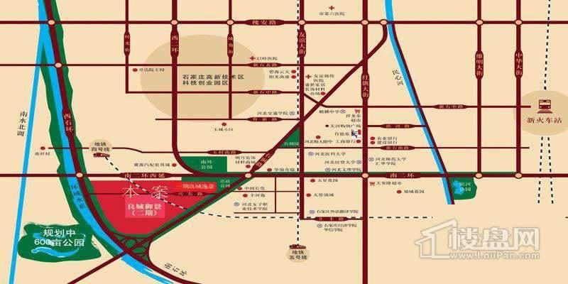 良城御景交通图