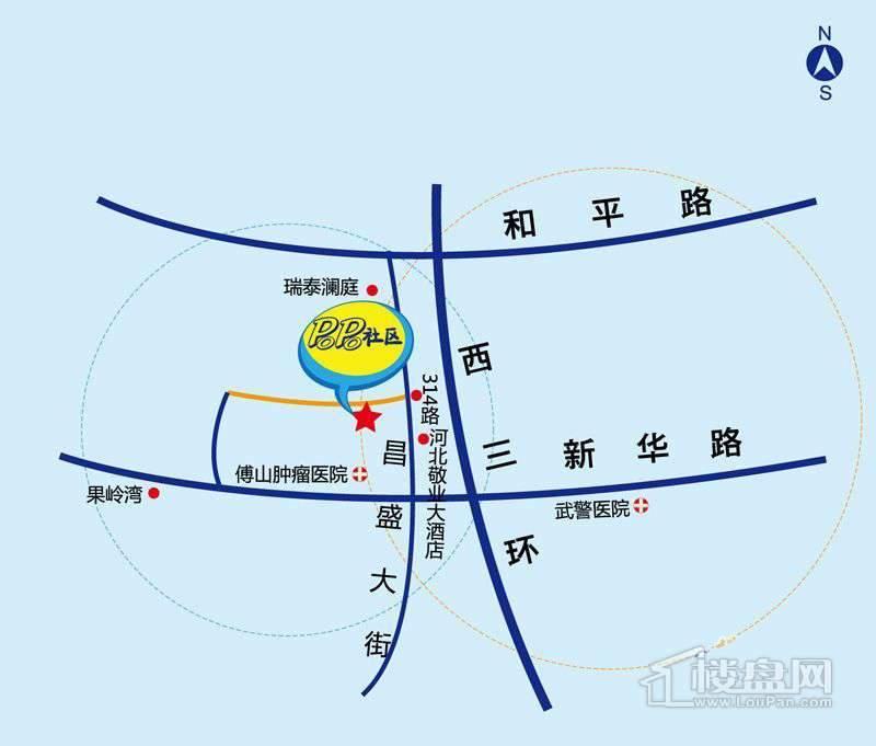 POPO社区交通图