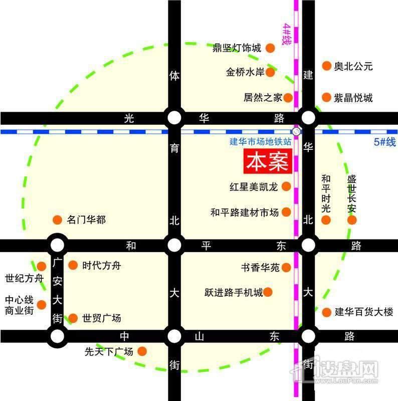 平和商务大厦交通图