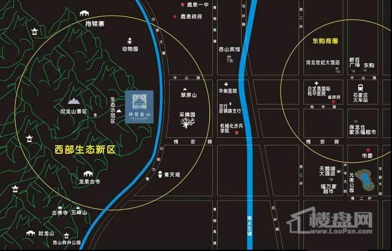 绿墅蓝山交通图