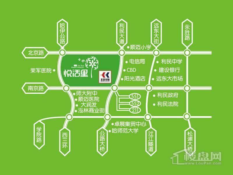 三力·悦活里交通图