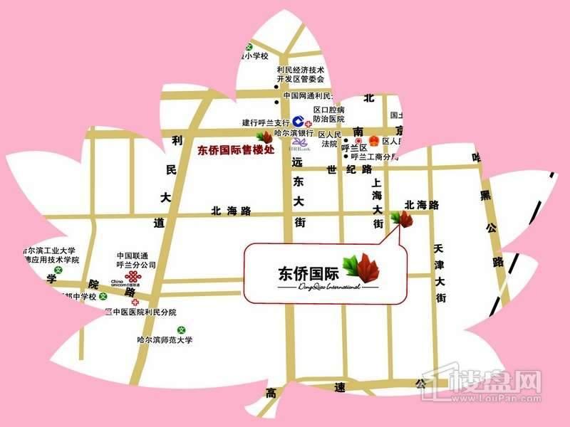 东侨国际交通图