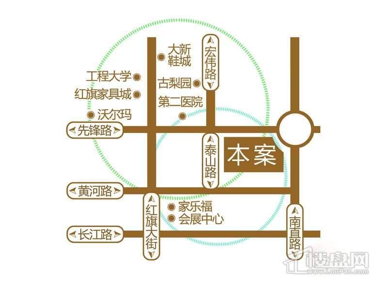富达蓝山交通图