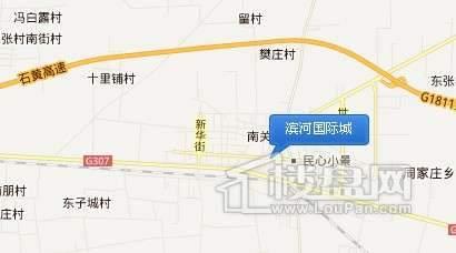 滨河国际城交通图