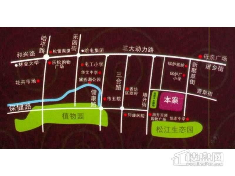 金色玫瑰园交通图