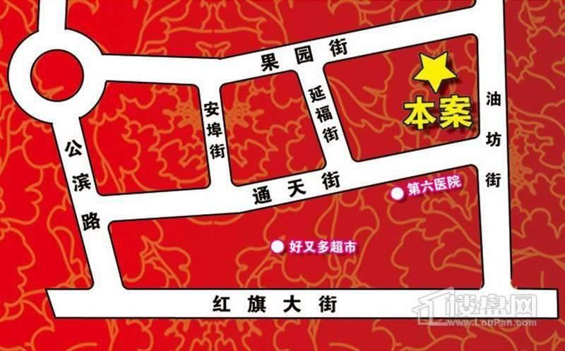 家园新城交通图