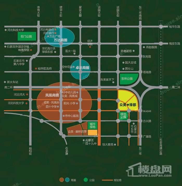 众美绿都交通图