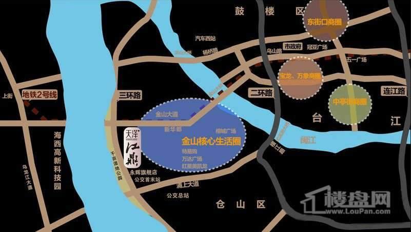 天泽江鼎交通图