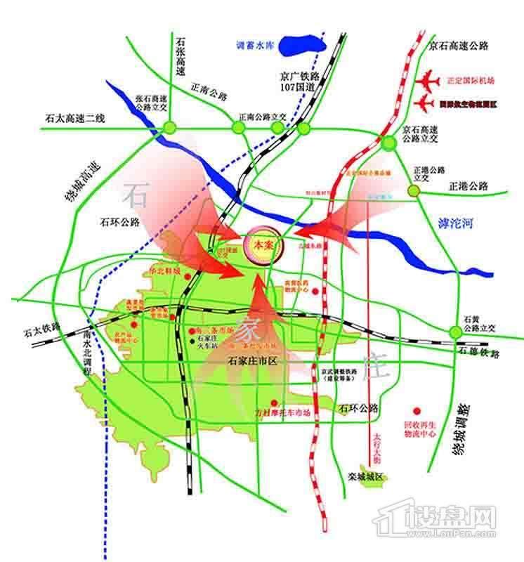 滹太商贸城交通图