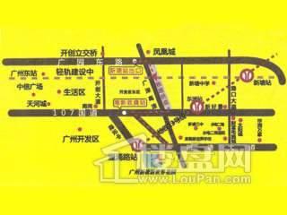 新塘新世界花园交通图