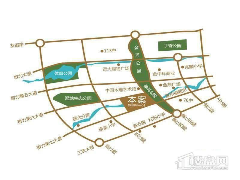 汇龙湾公馆交通图