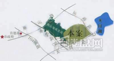 白金瀚宫别墅交通图