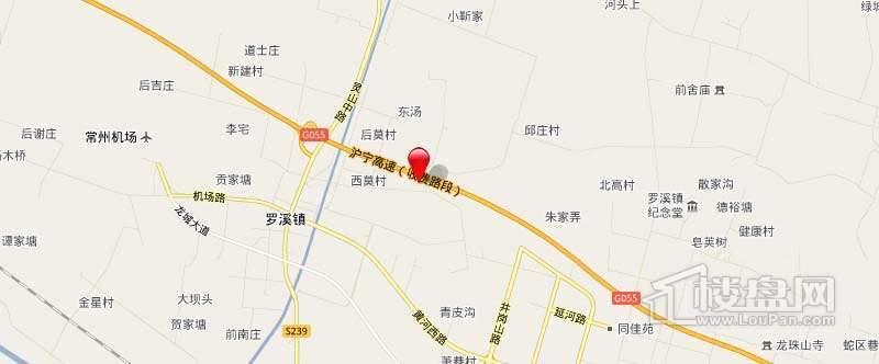 罗溪汤庄商贸中心交通图