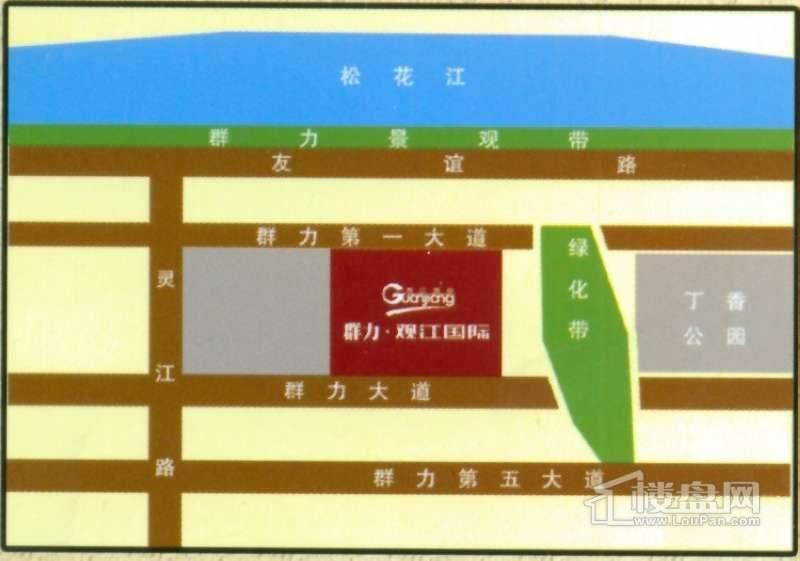 群力观江国际交通图