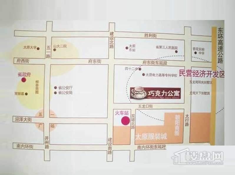 巧克力公寓交通图