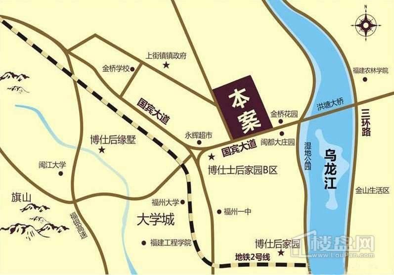 博仕后公馆交通图