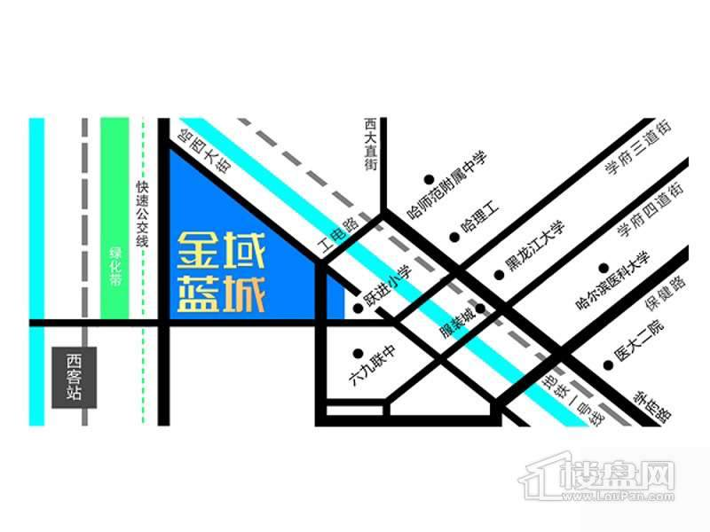 金域蓝城交通图