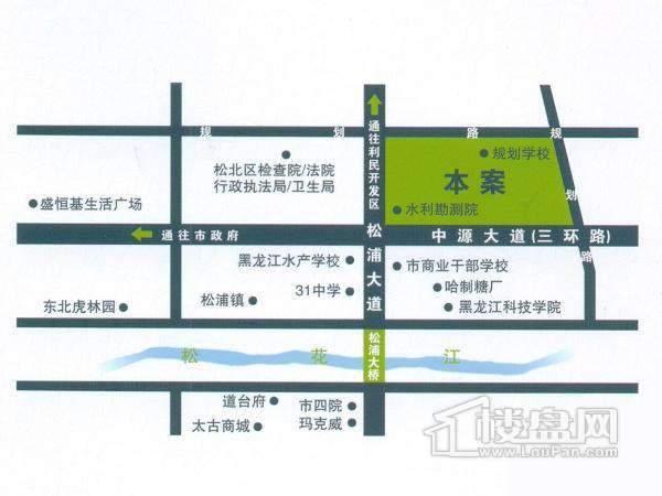北岸启程交通图