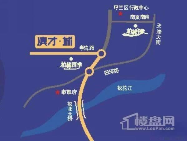 滨才城交通图