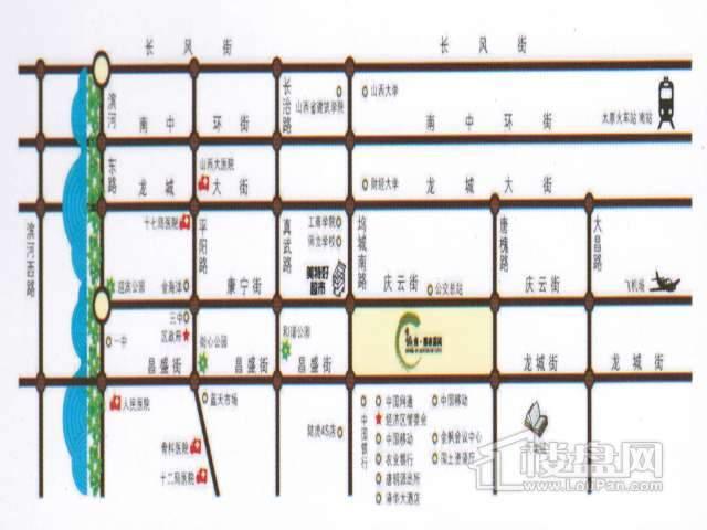 城南都市嘉园交通图