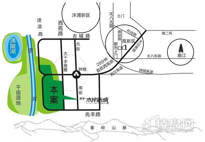 荣华水岸新城交通图