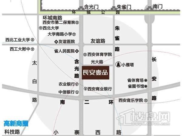 长安壹品交通图