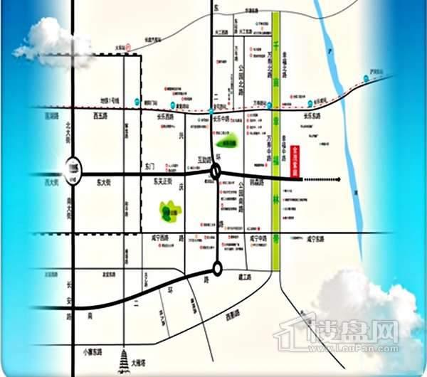 金茂紫庭交通图