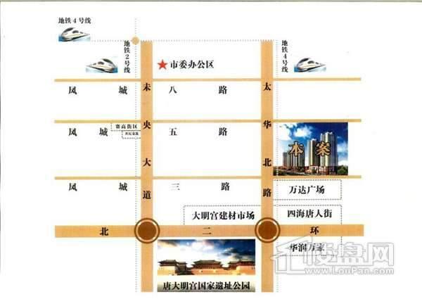 百花商业广场交通图