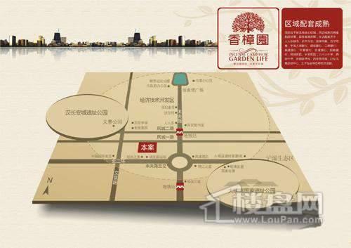 西安香樟园交通图