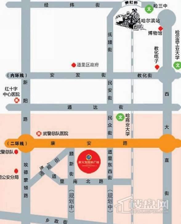 新大发国际广场交通图