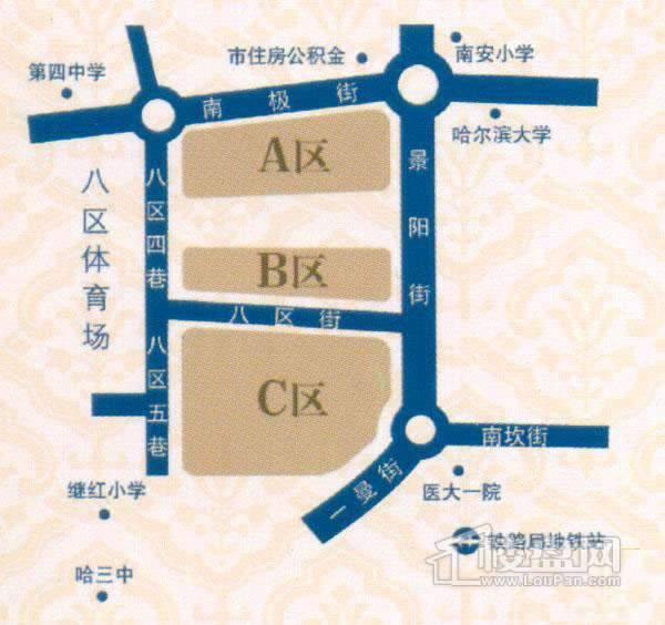福宏名城交通图