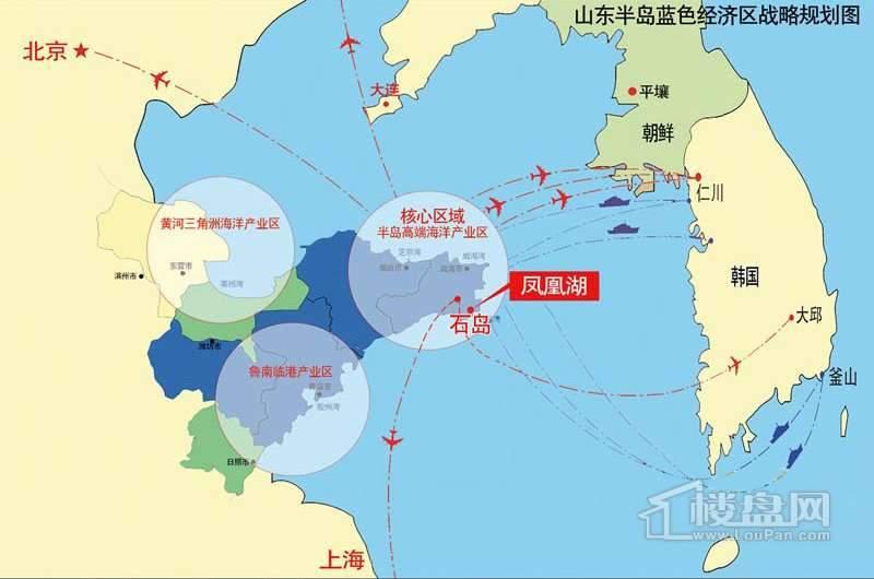 石岛凤凰湖小区交通图