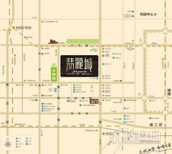 翡丽城交通图
