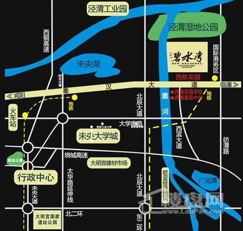 西港碧水湾交通图