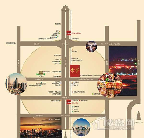 金莎国际交通图