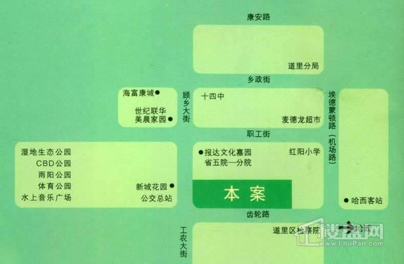 天薇丽景园交通图