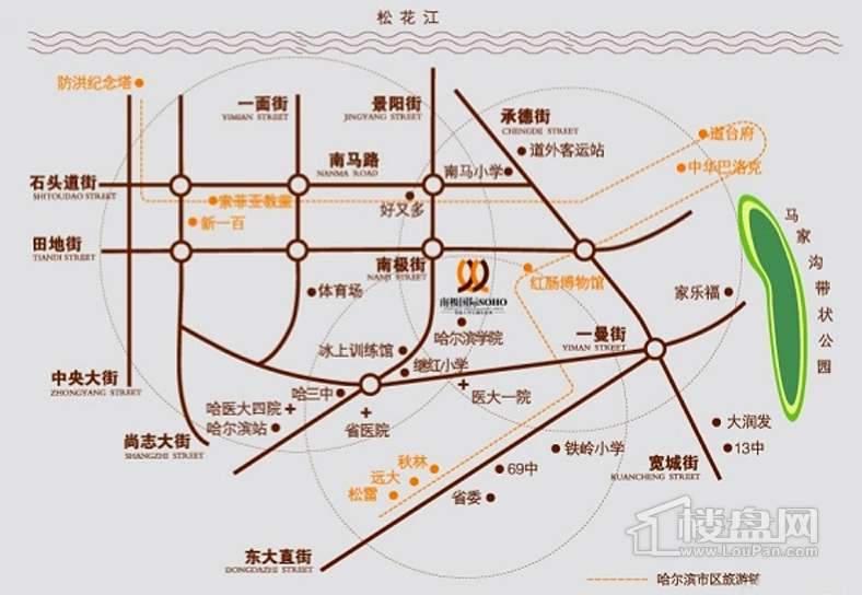 南极国际 尚金华府交通图