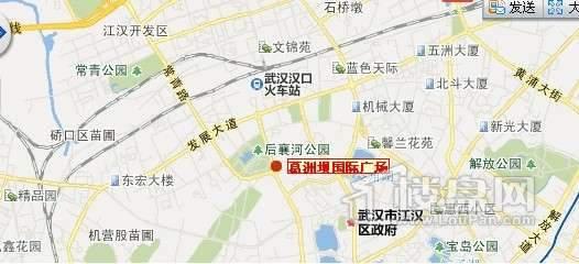 葛洲坝国际广场交通图