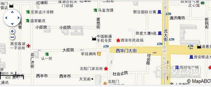 大唐西市佳境交通图