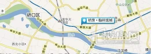 硚房翰林珑城交通图