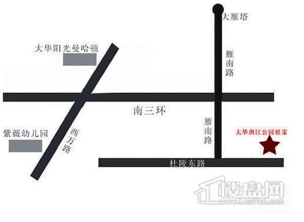 大华公园世家交通图