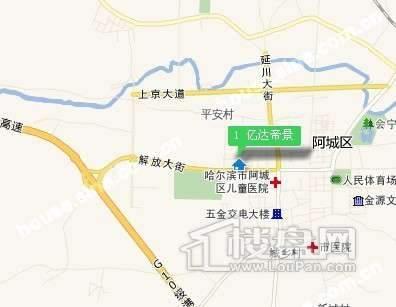 亿达馨景交通图