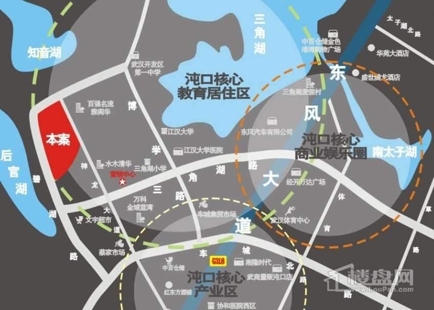 千晴岸交通图