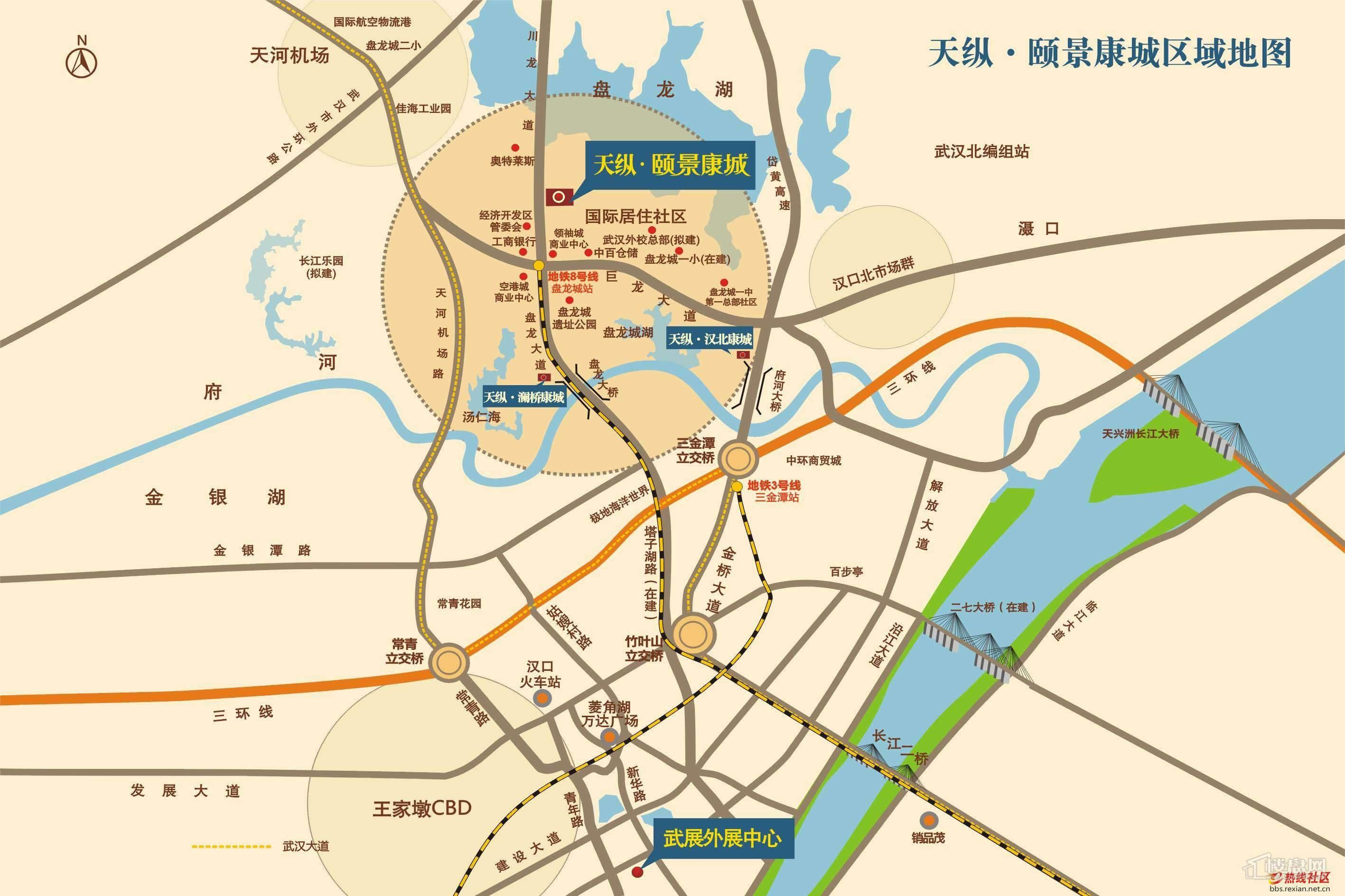 天纵颐景康城交通图