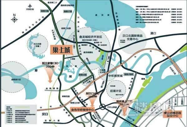 巢上城交通图